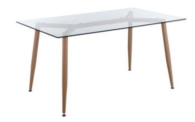 Table Rectangle L 150 Cm Spider Verre Table A Manger Pas Cher