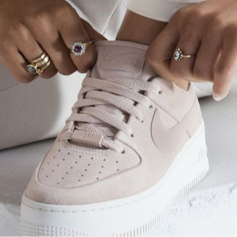 brand new f5897 95c0c Nike Air Force 1 Sage Low Women s Shoe Size 12 (Particle Beige)