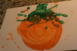 P is for Pumpkin painting - journal idea~ Preschool at Home