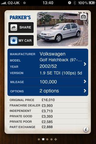 Used car price guide uk