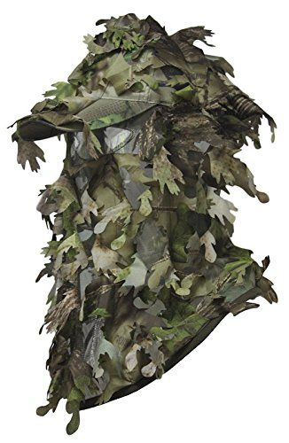 Woodland Camo 3D Camouflage Leaf  Suit Face Mask Paintball Hunting