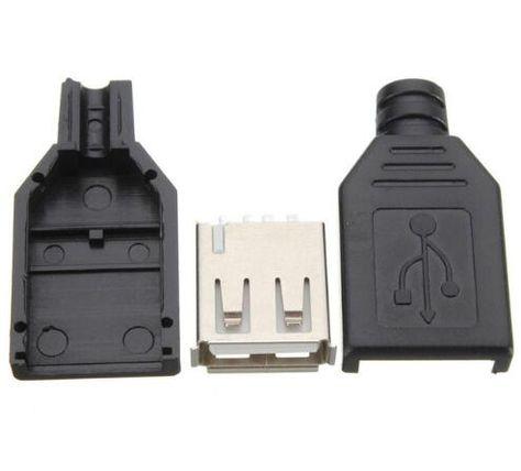 10 Stücke Typ A Buchse USB 4 Pin Steckdose Jack Stecker Steckdose ...