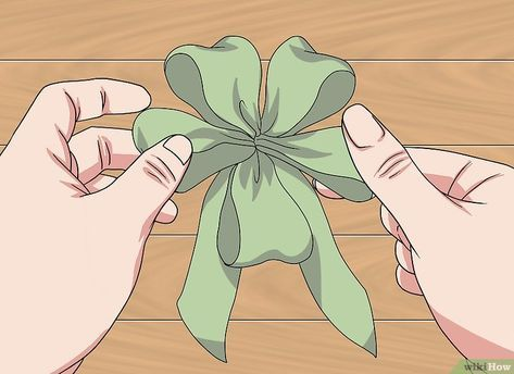 How to Make a Bow with Wired Ribbon. Wired ribbon can be tricky to work with because it does not behave the same way regular ribbon does. Once you know how to handle it, however, you can use it to make beautiful bows, perfect for wreaths,. How To Make A Ribbon Bow, Diy Ribbon, Wired Ribbon, Ribbon Crafts, Ribbon Bows, Ribbons, Making Bows For Wreaths, How To Make Wreaths, Bow Making