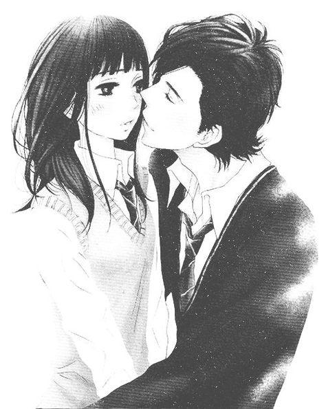 Открытки, картинки люблю тебя аниме