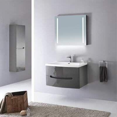 Orren Ellis Kattie Modern 36 Wall Mounted Single Bathroom Vanity