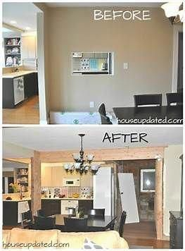 Image Result For Wall Between Kitchen And Dining Room Before And After Photos Of Removal Homeremodel Living Room Remodel Room Remodeling Kitchen Remodel Small