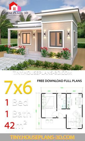 Tiny House Plans 7x6 With One Bedroom Flat Roof Tiny House Plans Flat Roof House Tiny Houses Plans With Loft One Bedroom Flat