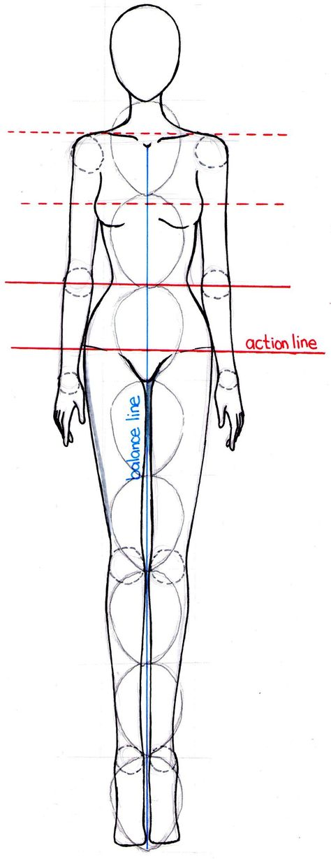 LOVEtHEART - Fashion Illustration FIGURE IN MOTION Art - blank fashion design templates
