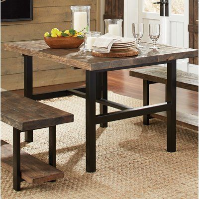 Mistana Dining Table With Images Wood Dining Table Reclaimed