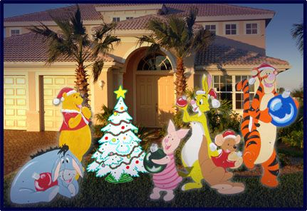 3 Yard Art Wood Patterns - Never Used $1000, via Etsy Christmas - disney christmas yard decorations