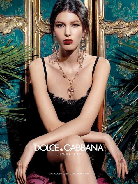 Kate King Stars in Dolce & Gabbana Baroque Jewelry 2013 Campaign - Dior Jewelry - Ideas of Dior Jewelry - dolce gabbana baroque jewelry 1 Katie King Stars in Dolce & Gabbana Baroque Jewelry 2013 Campaign
