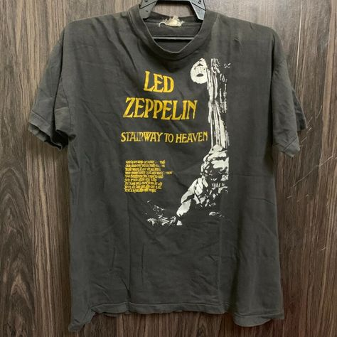 Vintage 70s 80s Led Zeppelin Stairway To Heaven T Shirt Ebay Vintage Clothing Men Led Zeppelin Zeppelin
