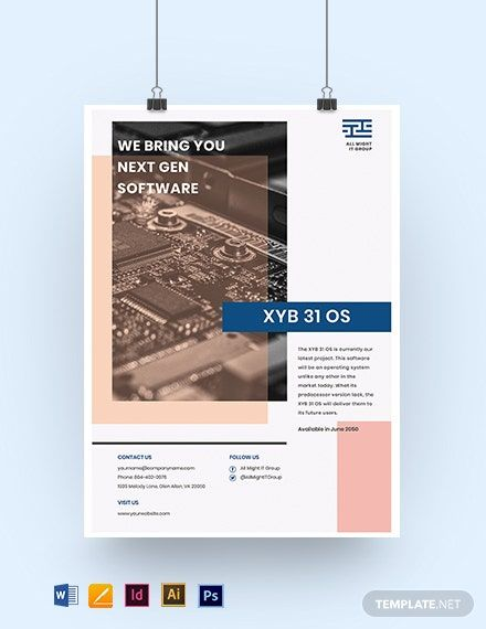 It Project Poster Template Word Doc Psd Indesign Apple Mac Pages Google Docs Illustrator Poster Template Design Poster Template Microsoft Publisher