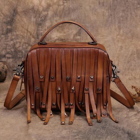 Vintage Style Handbags Studded Vintage Satchel Bag Vintage Leather Bag Tooled Leather Handbags Purses And Handbags