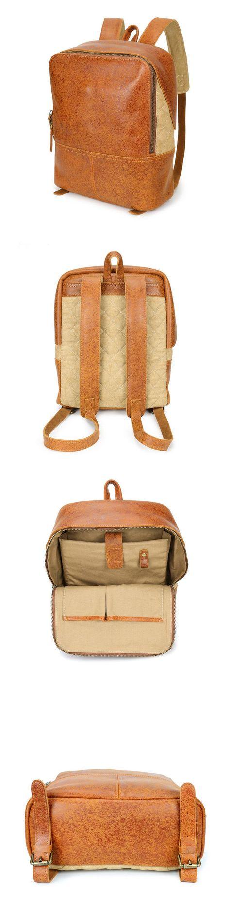 6f44f6a419 School Backpack Handmade Leather Backpack Travel Backpack Men Backpack  YD8173