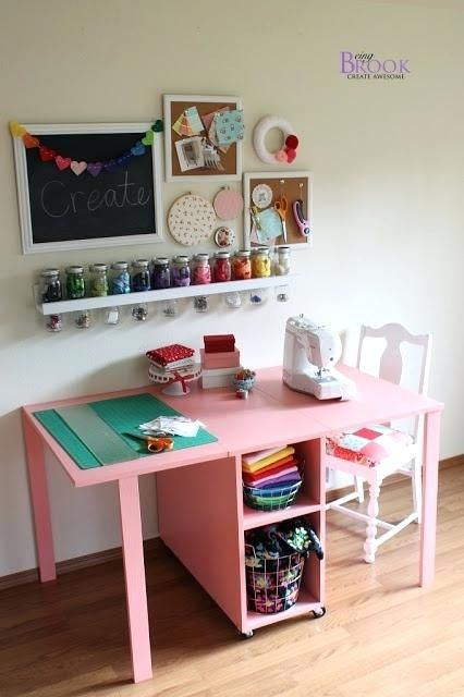 Fresh Ana White Kids Table Arts Ideas Ana White Kids Table And Beingbrook Ana White The Handbuilt Home Sewing Room Design Small Sewing Space Kids Craft Tables