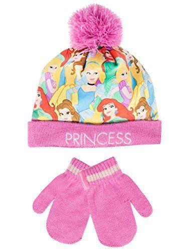 Disney Childrens Girls Princess /& Peppa Pig Cute Warm Knit Winter Beanie Hat with Pom Pom