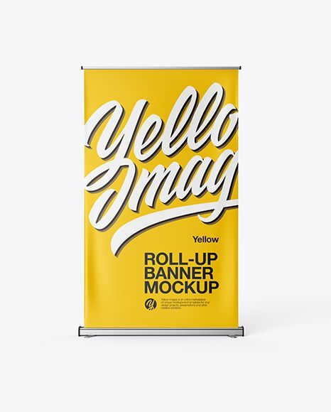 Download Telescopic Banner Psd Mockup Yellowimages