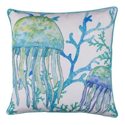 Highland Dunes Honora Jellyfish Throw Pillow Throw Pillows Floral Throw Pillows Pillows