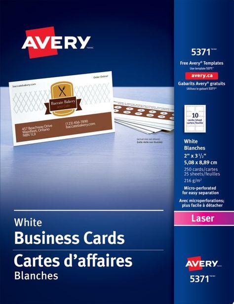 Avery Visitenkarten Papier Mehr Auf Unserer Website