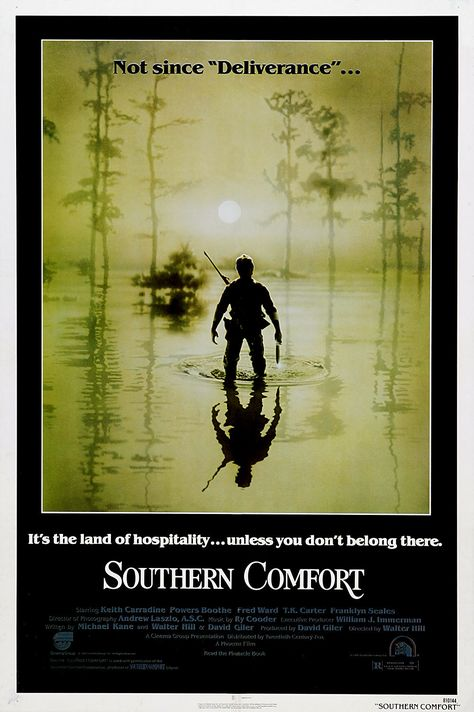 Southern Comfort (1981) USA 20th Century Fox Thriller D: Walter Hill. Keith Carradine, Powers Booth, Fred Ward, Peter Coyote. 06/03/13