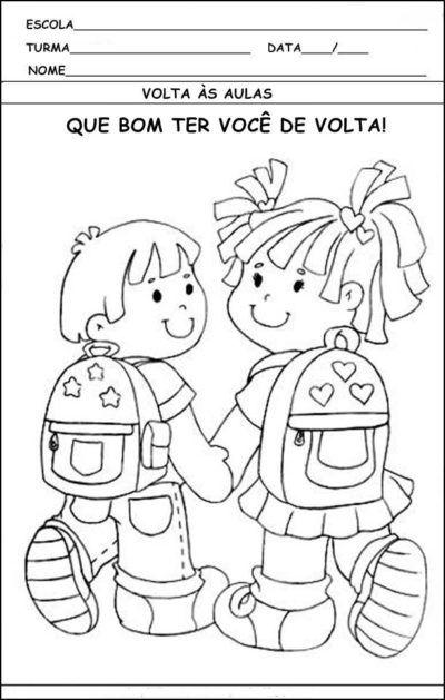 Desenhos De Volta As Aulas Para Os Alunos Atividades De Colorir
