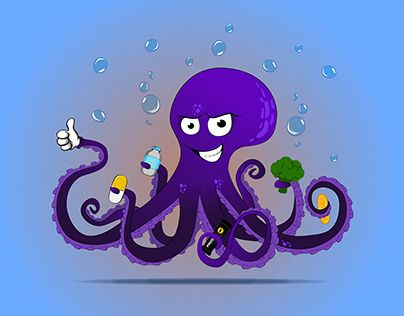 Check Out New Work On My Behance Portfolio Octopus Sticker Osminog Http Be Net Gallery 68872023 Octopus Sticker Osminog Octopus Stickers Smurfs