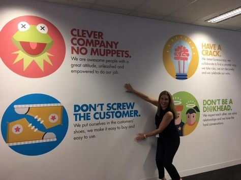 Company's amusing office values – The Recycler