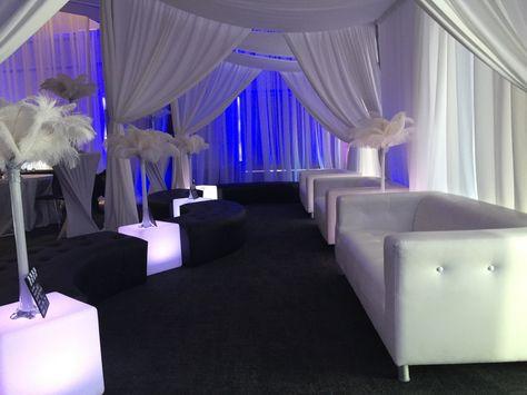 LED dance riser platforms crystal pipe and drape and fuchsia - fresh blueprint furniture rental