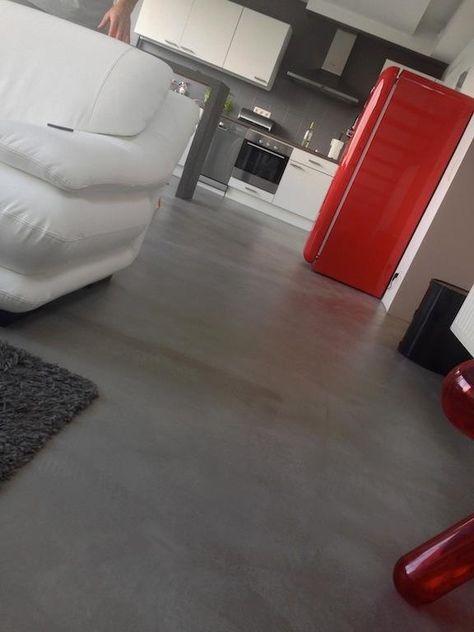 17 best MICROCEMENT FOR A u0027SOILu0027 images on Pinterest Cement, Gray - dalle beton interieur maison