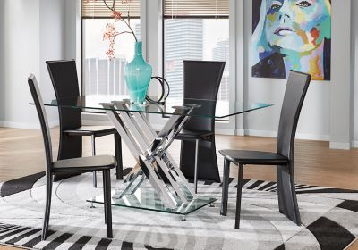 Glass Dining Furniture Glass Dining Room Table Rectangle Dining Set Glass Dining Table Set