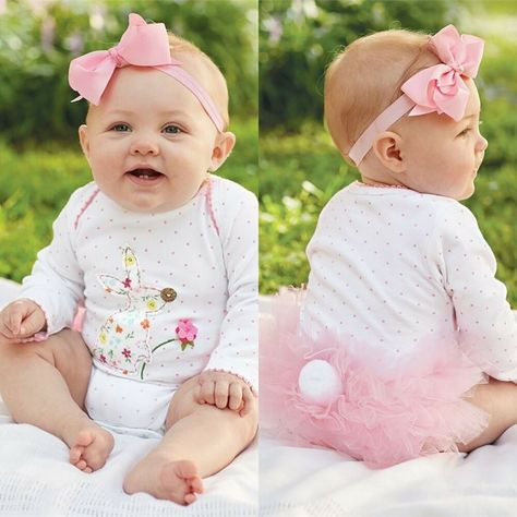 e0d731fd1f02 Mud Pie Bunny One Piece Tutu Bodysuit Crawler 3 - 6 mths Easter ...