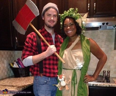 Tenaje: My boyfriend and I had been throwing around different couples costumes for weeks. I had finally given up until he decided he was going to be a lumberjack. Well what...