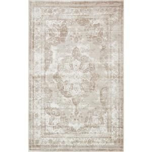 Home Decorators Collection Lucy Cream 8 Ft X 10 Ft Area Rug 557423 Unique Loom Vintage Area Rugs Area Rugs