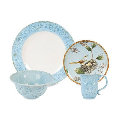 Fitz Floyd Toulouse Blue Dinnerware Collection Bedbathandbeyond Com Blue Dinnerware Dinnerware Green Dinnerware