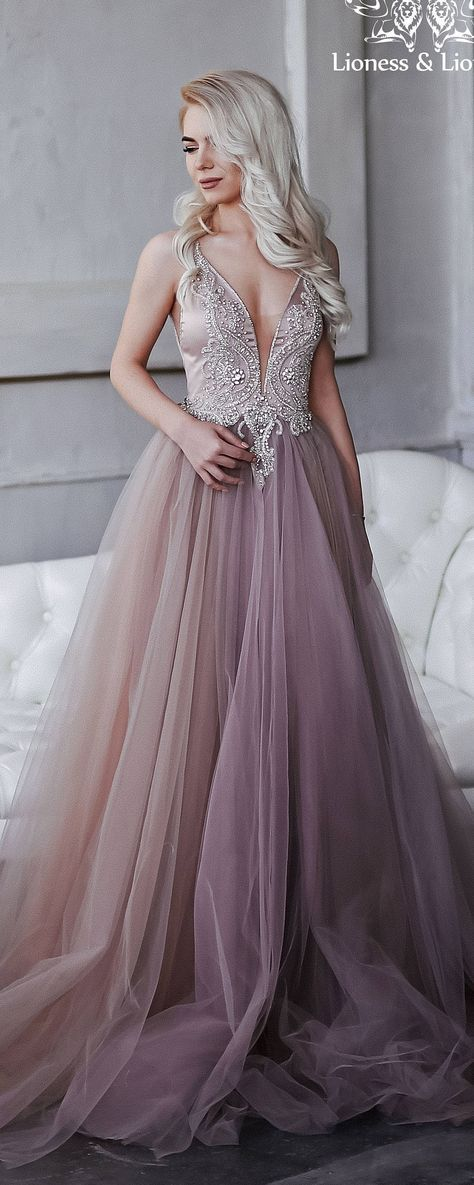 00c7af6b2eb Wedding dress of extraordinary smoky purple, hand-embroidered ...