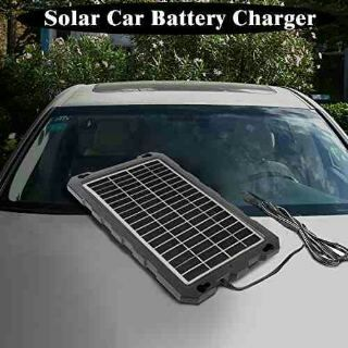 Portable Solar Charger Board For Car Batteries By Powoxi Car Battery Car Battery Charger Solar Car