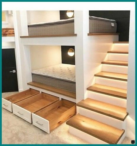 41 Best Bunk Bed Ideas For Lovely Bedroom Bunk Bed Rooms Bunk Bed Designs Cool Bunk Beds