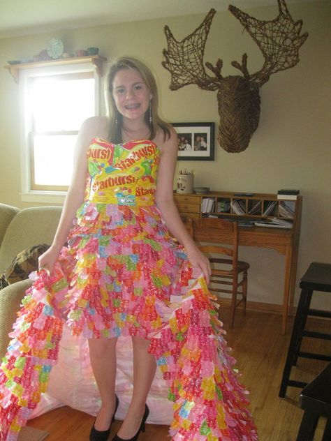 it took me 3 months to finish the whole thing. i will be wearing it to prom this year and i have a matching tie for my date starburst wrapper prom dress