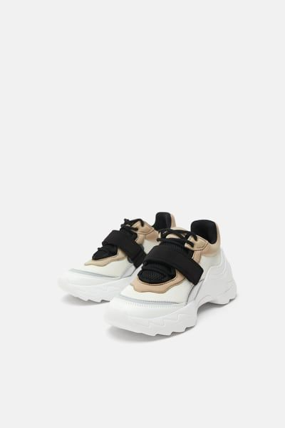 fd984a577e Adjustable strap sneakers in 2019 | Birthmas 2018 | Zara sneakers ...