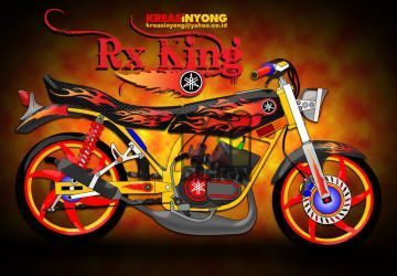 Yamaha Rx King Vector Free Vector Download For Sepeda Motor Rx