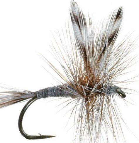 6 ADAMS PARACHUTE Dry Fly  ~  Size 16 ~ Six Fishing Flies