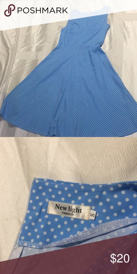 Vintage Dresses Dresses Vintages light blus Dresses Asymmetrical