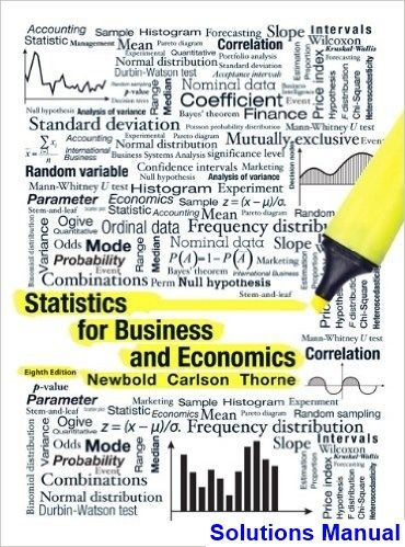 Statistics For Business And Economics 8th Edition Newbold