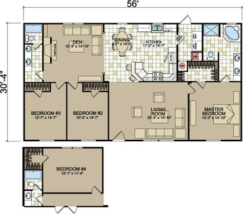 layouts of doublewides from Freedom Homes | Champion Homes ...