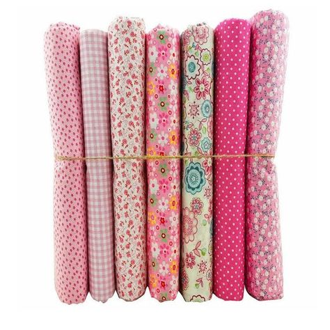 FQ Patchwork Pinks Vintage Tilda  100/% Cotton Patchwork Quilting 50x50cms