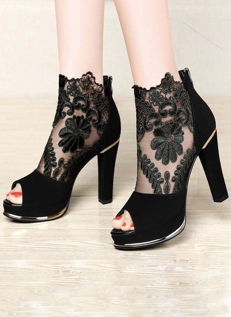 Black Laces Style Sandals 2019