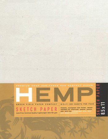 Hemp Drawing Paper Pack 8.5 x 11