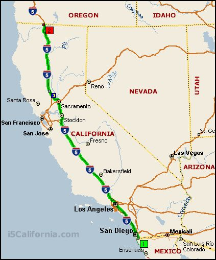 map of interstate 5 wa seattle to california Interstate 5