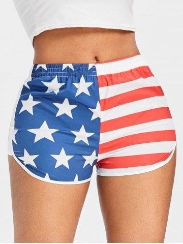 VBRANDED American Flag Novelty Shorts for Running and Swimming Various Designs
